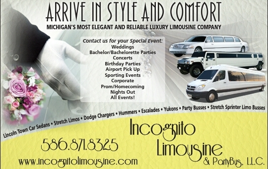 Incognito Limousine and party bus Roseville Michigan