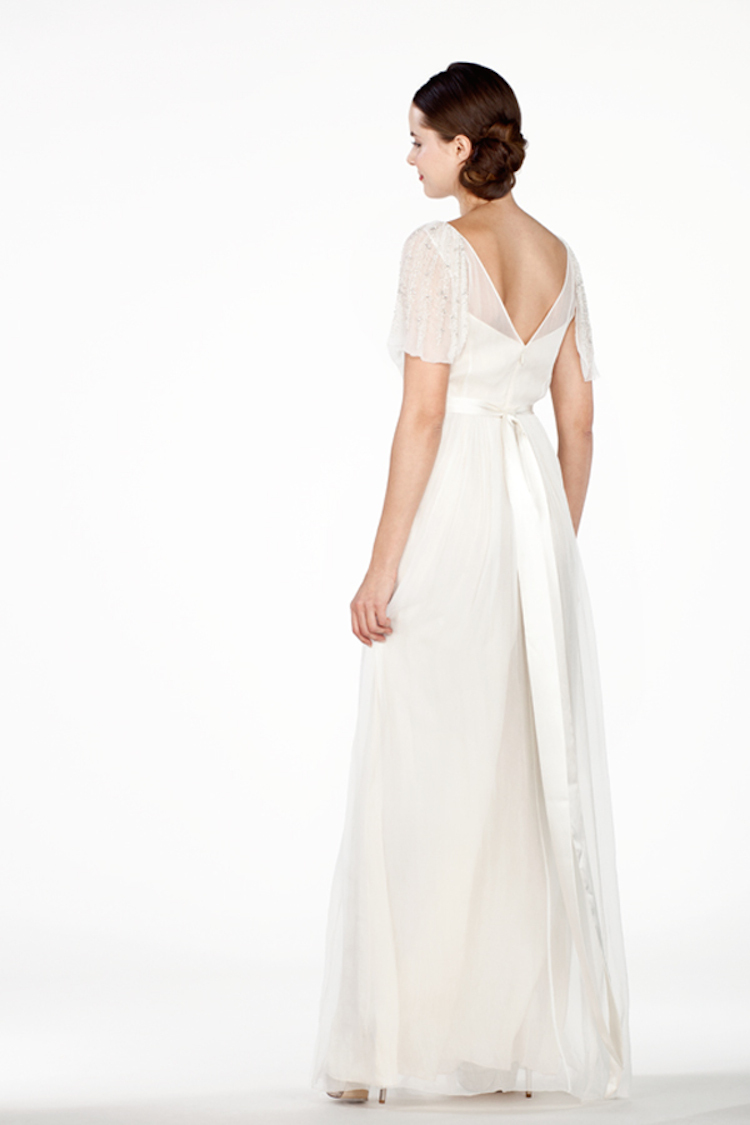 Sheer Illusion Sleeves with Plunging Back