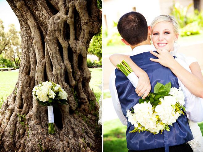 Outdoor-july-wedding-arizona-white-green-ivory-fresh-flowers-bridal-bouquet-groom-wears-black-tux-blue-vest.full