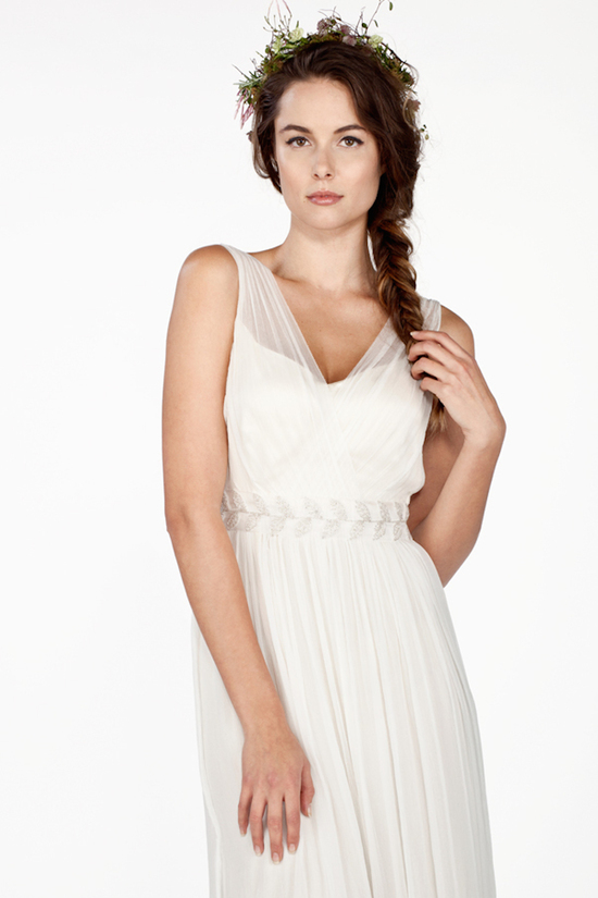 Illusion V Neck Chiffon Dress