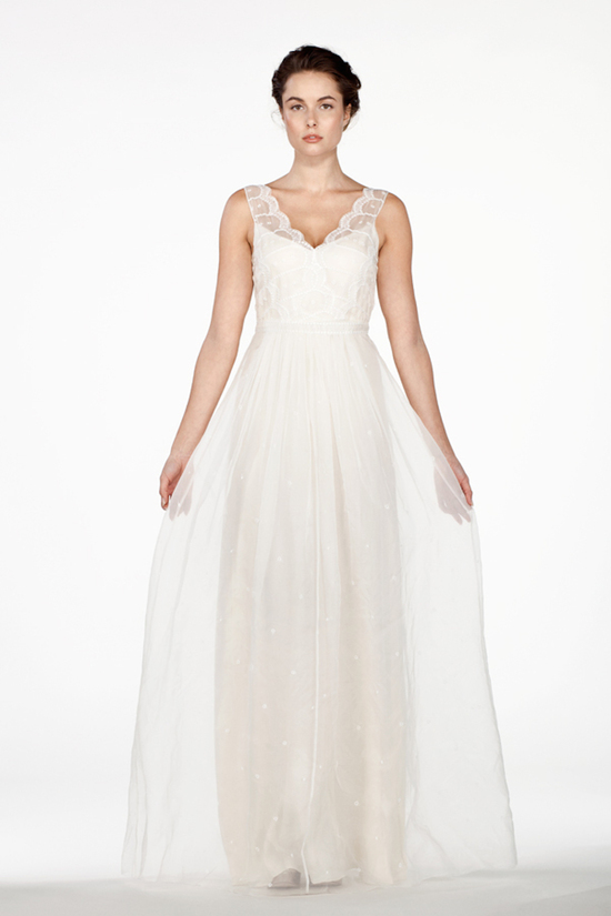Scallop Embroidered Silk Organza Dress