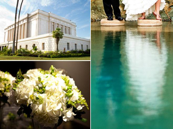 Outdoor summer wedding in phoenix az ivory and green for Wedding expo az