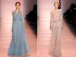 photo of Plunging Necklines, Slinky Silhouettes, High-Fashion Bridal Inspiration from Jenny Packham