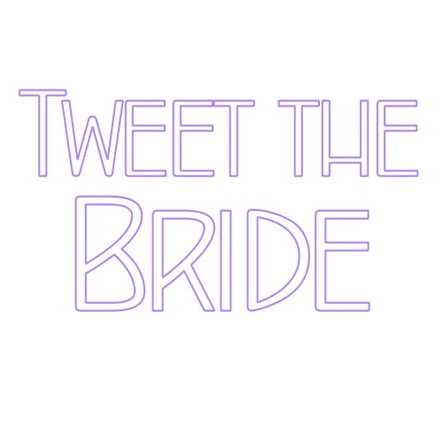 Tweet the Bride Wedding Social Media
