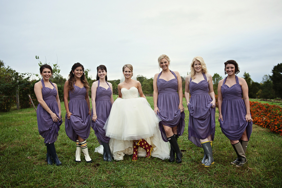 Bridal Party in Rainboots