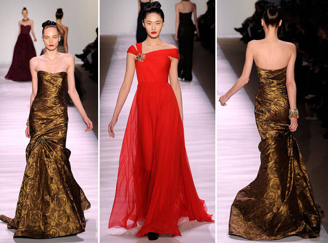 Monique-lhuillier-stunning-silhouettes-wedding-dresses-gowns-gold-red-strapless.full