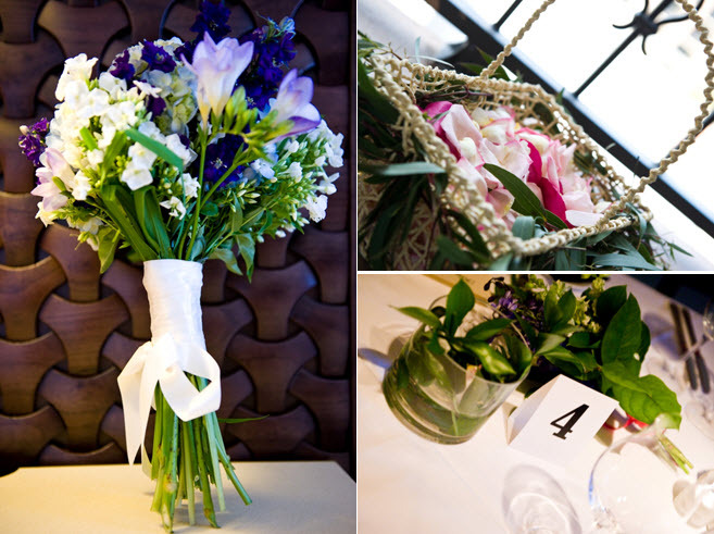 Purple-ivory-white-bridal-bouquet-simple-wedding-flowers-reception-table-centerpieces.full