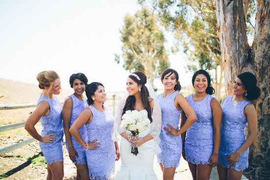 Bridal Party in Purple Lace