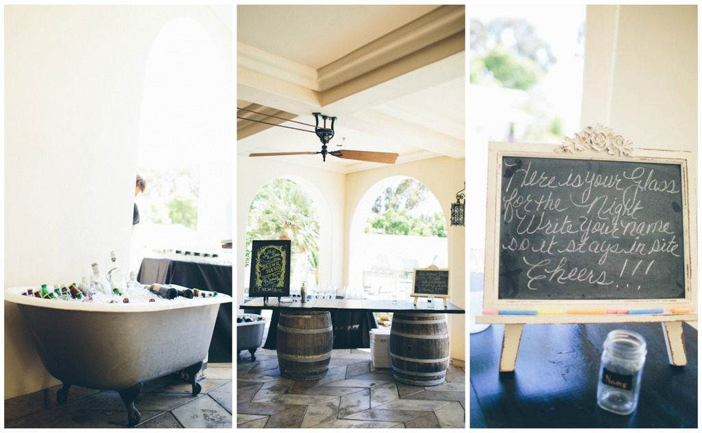 Rustic Drink Table Setup