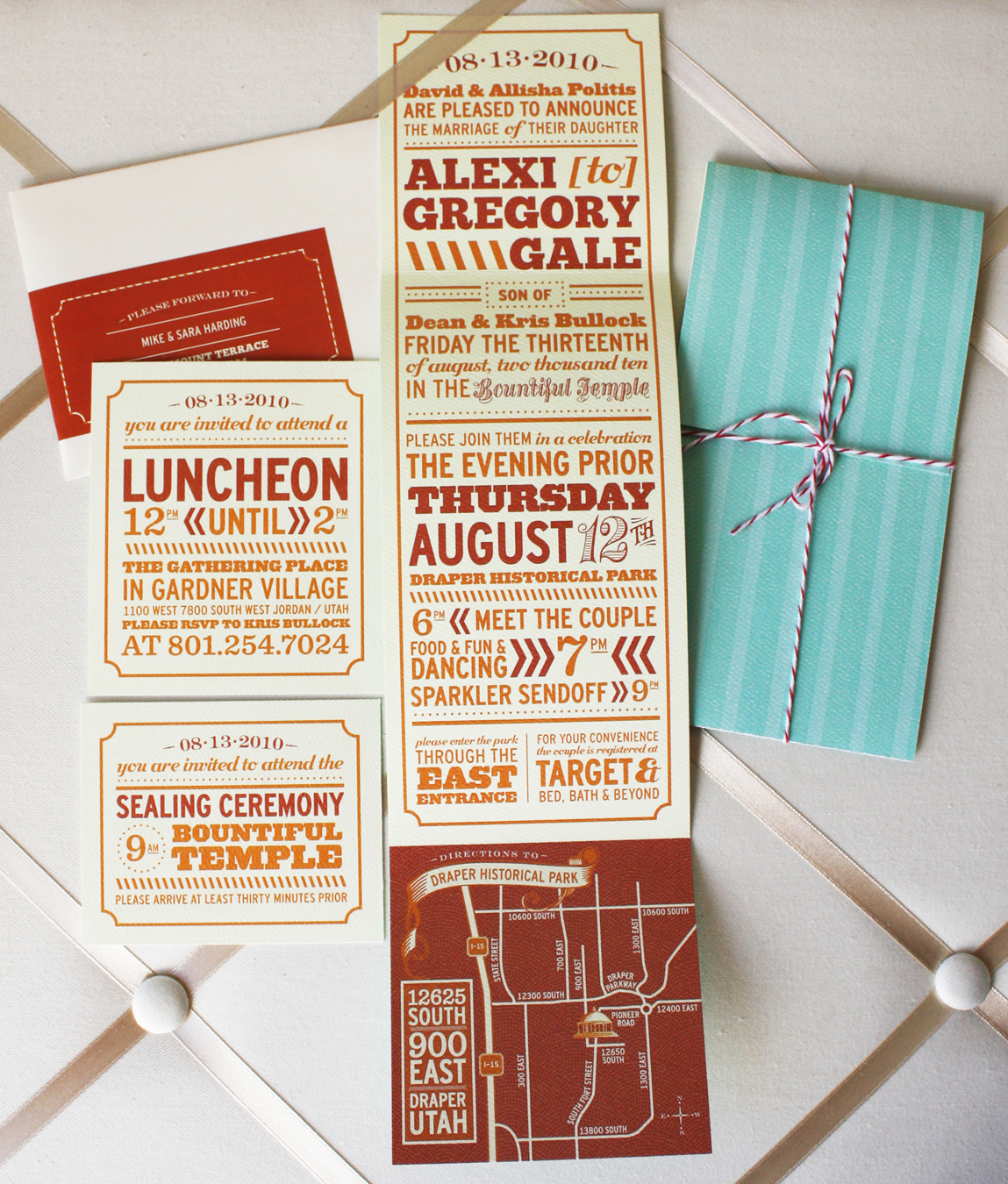 This Whimsical Wedding Invitation Suite Uses Turquoise