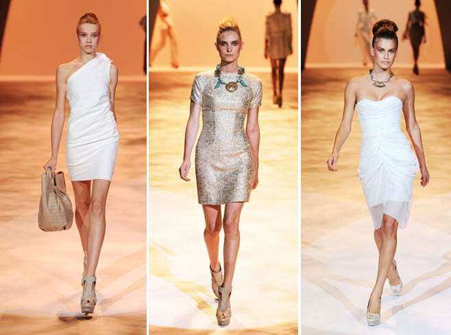 Little White Dresses hot off the catwalk, by Christian Siriano, for your wedding reception