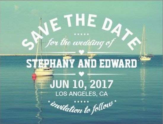 Sailboats Save the Date
