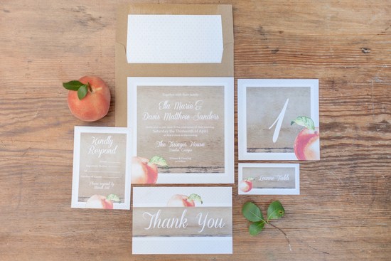 Peach Stationery