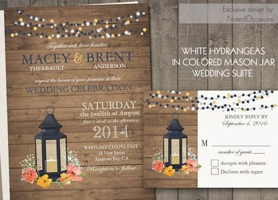 Wooden Plank Invitations