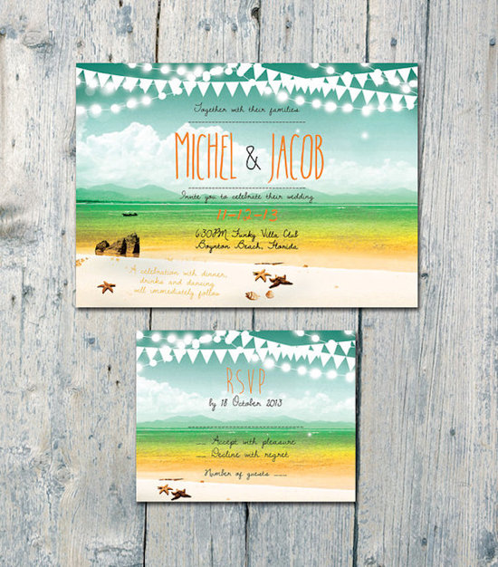 Bright and Beachy Stationery