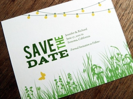 Green Grass Save the Date