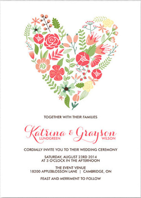 Floral Heart Invitation