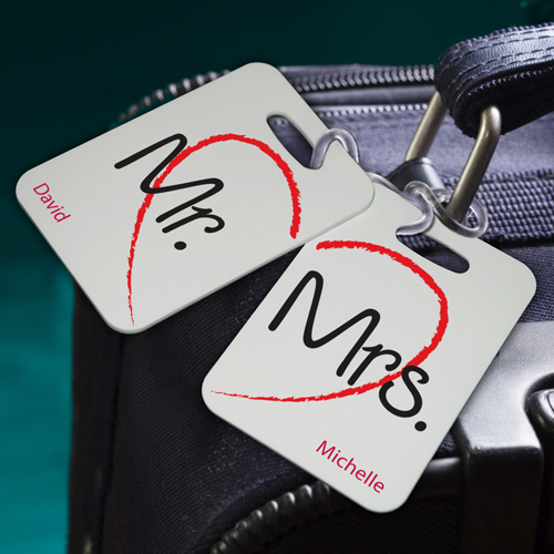 Mr. & Mrs. Personalized Luggage Tags
