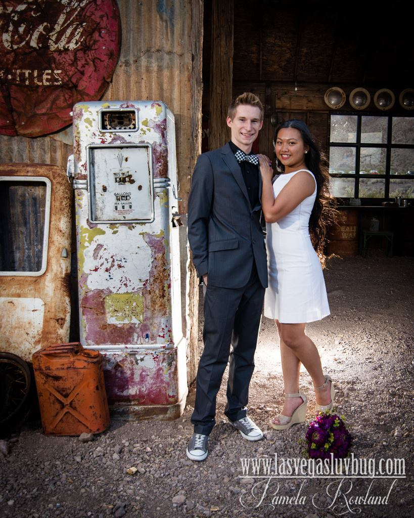 Luv Bug Nelson Ghost Town Wedding