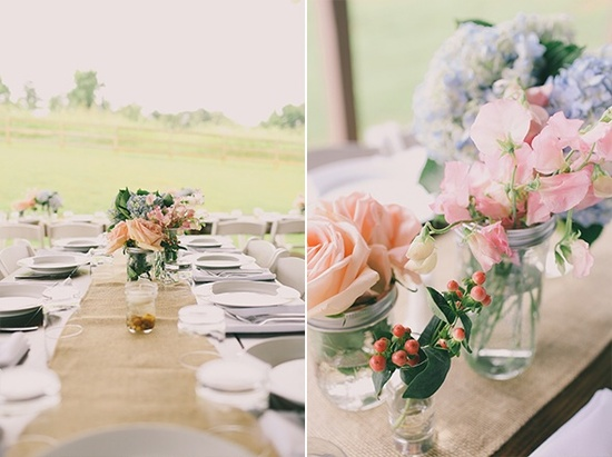 Farm Tables Rustic Wedding