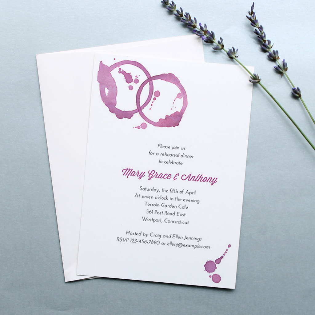 Wine Stains Wedding Invitations By Oubly