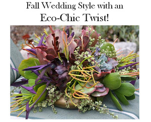 photo of Eco-Chic Fall Wedding Style Ideas from Recycled Bride