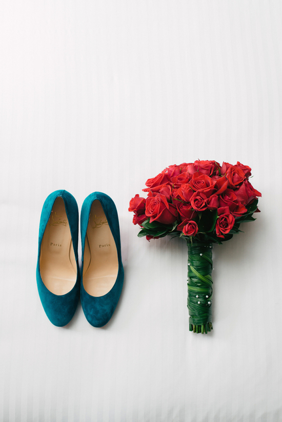 Blue Shoes and Red Roses