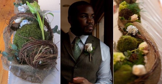 Rustic-organic-wedding-flowers-ivory-roses-blue-hydrangeas-green-moss.full