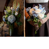 Light-blue-hydrangeas-ivory-roses-green-parrot-tulips-wedding-flower-centerpieces.square
