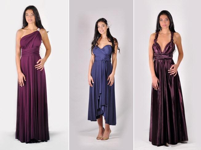 Convertible-bridesmaids-dresses-wine-burgundy-navy-blue-one-shoulder-rhinestone-brooch.full