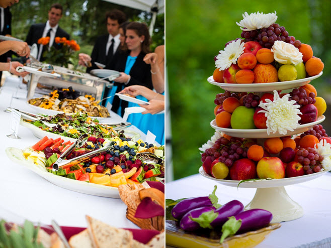 Wedding-reception-dinner-outdoor-casual-buffett-style-vibrant-fruit.full