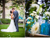 Bride-groom-kiss-after-saying-i-do-outdoor-wedding-ceremony-white-wedding-flowers.square