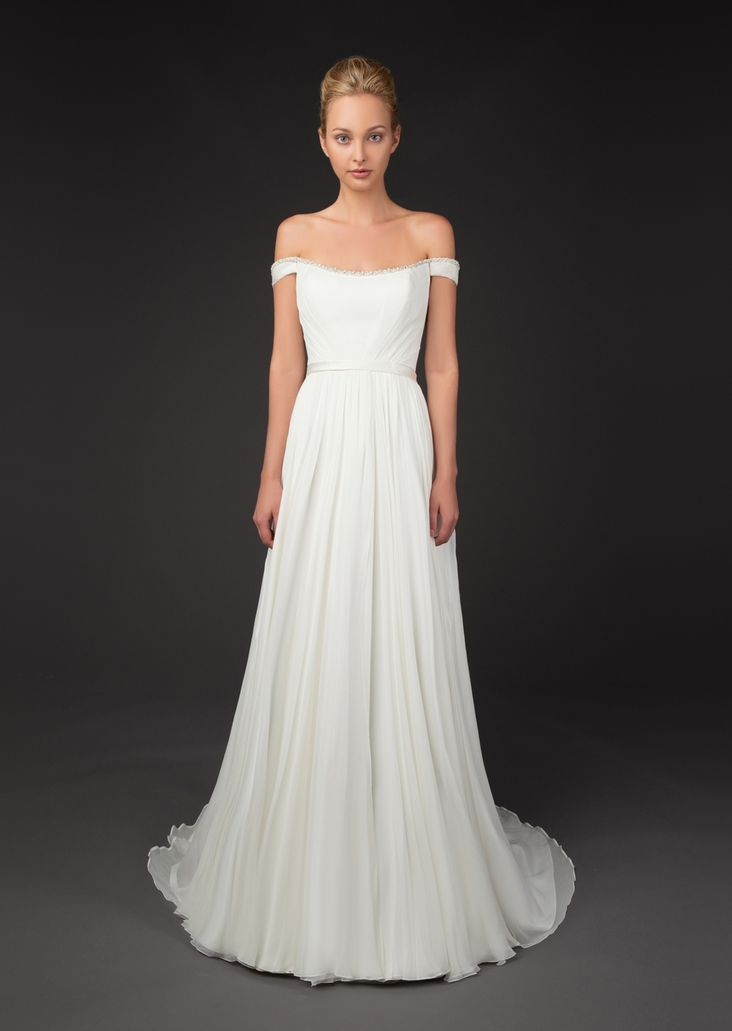Grecian Inspired Gown with Swarovski f the Shoulder