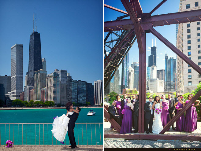 Downtown-chicago-african-american-wedding-purple-pink-green-city-skyline.full
