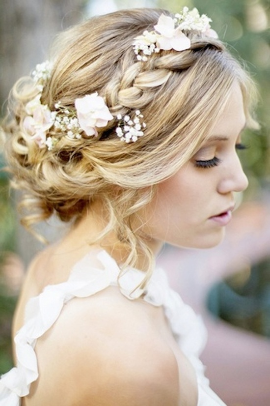 photo of Braids with Flowers