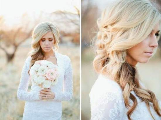 photo of Long Curly Bridal Hair