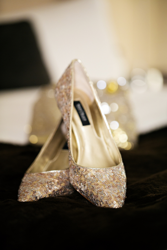 Gold and Glitzy Bridal Shoes