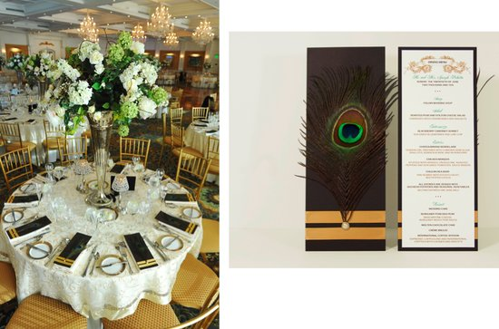 photo of Wedding Invitation Suite: Peacock Glory