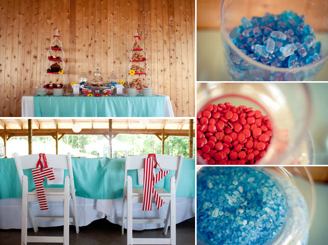 Teal-red-white-wedding-reception-tablescapes-candy-dessert-bar-donuts-cupcake-tree.full
