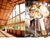 Rustic-virginia-lodge-wedding-venue-wood-beams-forest-backdrop-ivory-yellow-wild-flowers-bridal-bouquet.square