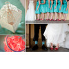 Red-bridal-shoes-bridesmaids-shoes-peep-toe-teal-bridesmaids-dresses-watermelon-candy-bar-vibrant-diy-wedding.square