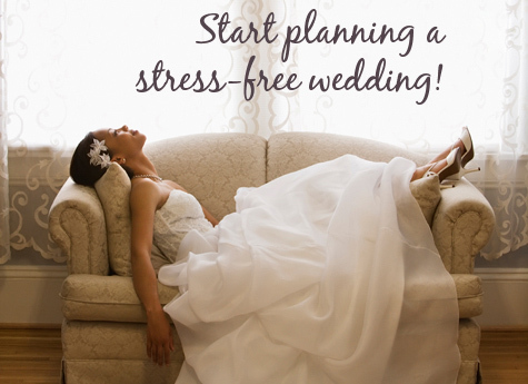 Enlist help of your groom, family and friends to combat wedding planning stress