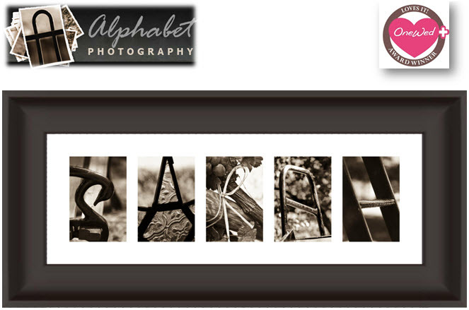 Custom Art For Your Home Created With Artistic Photographs That Resemble The Letters Of Alphabet