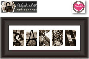 photo of Savvy Steals Giveaway Winner: A Custom Alphabet Art Frame For Your Newlywed Home