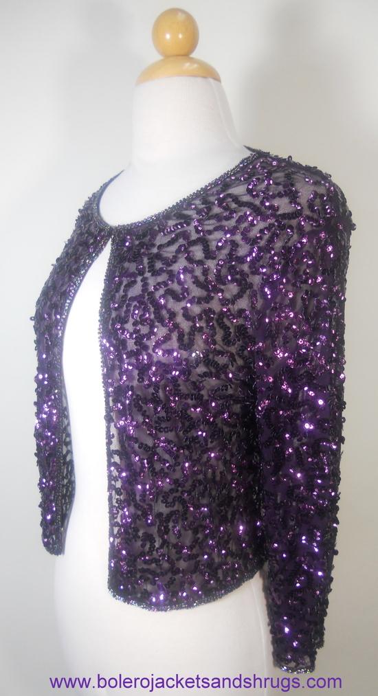 Purple Sequin Bolero Jacket 13