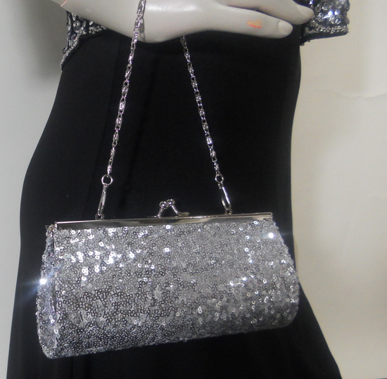 silver sequin clutch purse-2