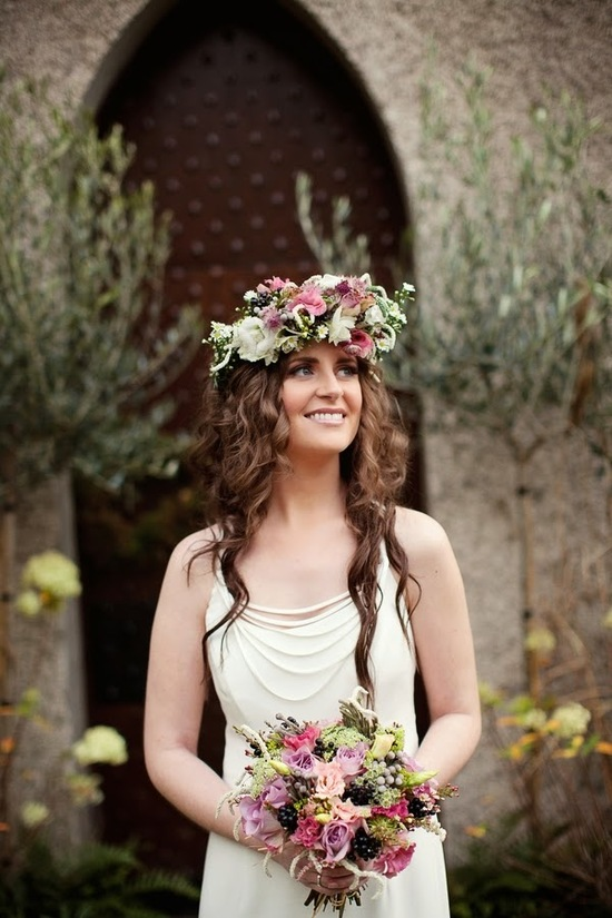 Gorgeous Flower Crown and Matching Bouquet