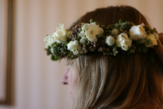 Floral Crown, white roses