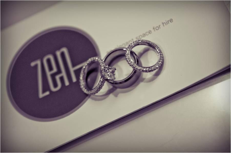 Chic-black-white-wedding-photo-engagement-ring-diamond-wedding-bands-zen-venue.full