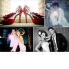Edgy-bride-groom-photo-shoot-red-peep-toe-bridal-heels-ruffle-detail-peacock-feather-in-hair.square